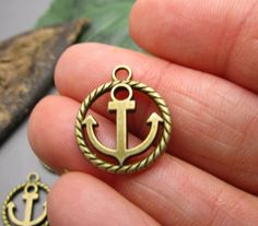 Excited to share the latest addition to my #etsy shop: 20 Anchor Charms Antique Tibetan Bronze - Nautical Charms for Jewelry Making or Crafting - MC1264 http://etsy.me/2jAZ4Gr #supplies #bronze #beading #nautical #atlantispirates #cruisecharms #shipcharms #anchorcharms