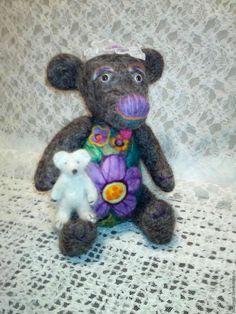Купить Медведики - игрушка ручной работы, игрушка в подарок, игрушка для детей, игрушка из шерсти