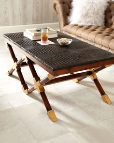 """Campaign"" Coffee Table by John-Richard Collection at Neiman Marcus."