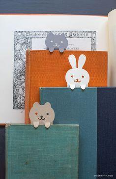 DIY: papercut animal bookmarks (free printable template)
