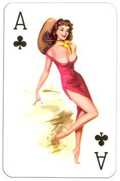 – Ace of clubs Van Genechten Glamour Girls pinup cards Playing Cards Art, Vintage Playing Cards, Pin Up Kunst, Illustrations, Illustration Art, Dibujos Pin Up, Pin Up Drawings, Vargas Girls, Pin Up Girl Vintage