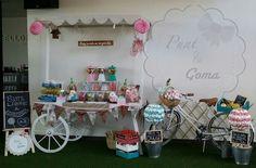 Candy Bar boda rosa y azul