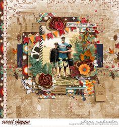 Digital scrapbook page by SeattleSheri using You Are Wonder-Fall Bundle by Amanda Yi, Studio Basic Designs & Two Tiny Turtles