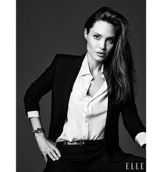 Angelina Jolie ELLE June Cover  #blackandwhite #inspired