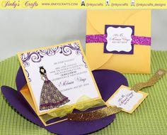 Princess Inspired Pochette Petal Envelope Easel por jinkyscrafts