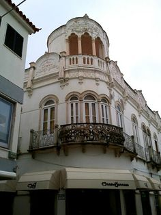 Art Nouveau style building in Olhao, the Algarve, Portugal