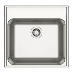 BOHOLMEN Single-bowl inset sink IKEA 25-year Limited Warranty.  - for downstairs bathroom