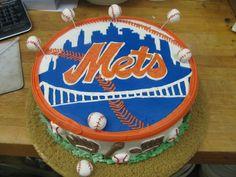 Mets logo cake