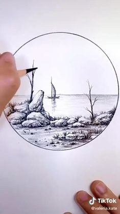 Click the Link to Buy Sketching & Drawing Pencils of Best Quality... #pencildrawing #pencilsketching #art Landscape Pencil Drawings, Landscape Sketch, Pencil Art Drawings, Nature Sketches Pencil, Simple Landscape Drawing, Scenery Drawing Pencil, Drawing Sunset, Pencil Sketching, Girl Pencil Drawing