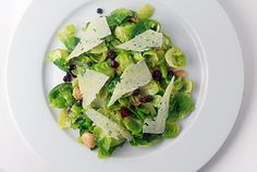 brussels sprout salad with manchego and marcona almonds    had an AMAZING brussels sprout salad this weekend...not this same combo but can't wait to try at home