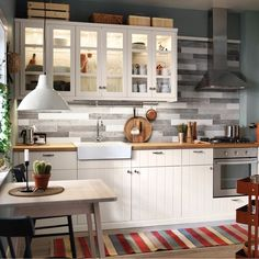 IKEA Store in UAE offers a fine selection of home furniture. Ikea Small Kitchen Table, Tall Kitchen Cabinets, Kitchen Island Table, Kitchen Cabinets Pictures, Round Kitchen, Kitchen Island With Seating, Kitchen Cabinet Storage, Rustic Cabinets, Home Decor Kitchen