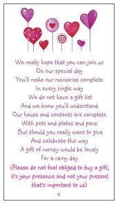 Wedding Poems no no no no. Don't make a poem, just don't register.