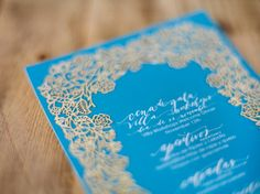 Oh So Beautiful Paper: Calligraphy + Laser Cut Menus from Neither Snow