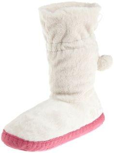Betsey Johnson Women's Flirty Faux Fur Slipper Boot for $30.00