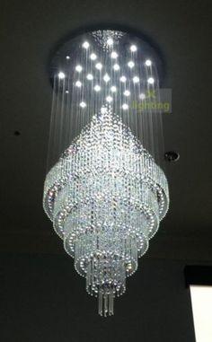 New Circle Crystal Pendant Lamp Hanging Light Raindrop