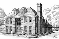 Early-american Style House Plans Plan: 58-277