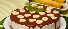 Cheesecake de banana com calda de chocolate - TeleCulinária Receitas de Culinária - Doces e Sobremesas