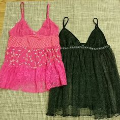 Victoria's Secret lingerie NEW No Tags, NEVER worn, bundle of baby doll, one fuchsia color and the other a shimmering black. Size Medium both. Willing to separate for $16 each. They run very small, more like Junior's size... Victoria's Secret Intimates & Sleepwear
