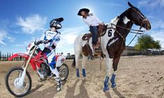 As a country girl who rides horses and races motocross, you can only imagine how much I love this photo (: