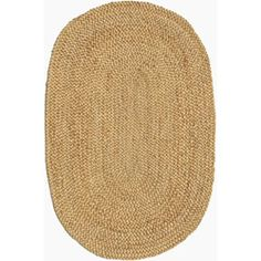 @Overstock - This beautiful area rug is hand-braided using jute in shades of beige. This simple, yet elegantly designed rug will add a uniquely luxurious feel to any room.http://www.overstock.com/Home-Garden/Hand-braided-Beige-Jute-Rug-6-x-9-Oval/6805471/product.html?CID=214117 $189.09