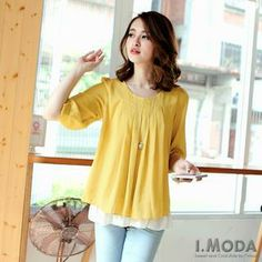 Buy 'OrangeBear – Elbow-Sleeve Pleated Chiffon Blouse' with Free International Shipping at YesStyle.com. Browse and shop for thousands of Asian fashion items from Taiwan and more!
