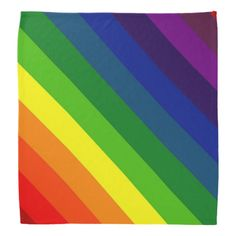 COLOR ME A RAINBOW (Striped design) ~ Bandana  Original paintings can be found for sale through my Amazon store at: http://www.amazon.com/shops/artmatrix or you can make direct arrangements for them through me. JMO Zazzle designs: http://www.zazzle.com/thewhippingpost?rf=238063263784323237 To help an artist, you can donate here: http://www.gofundme.com/6am6lg