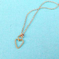 Heart Necklace  Gold  Flower Girl Jewelry  by prettylittlepretties, $18.00