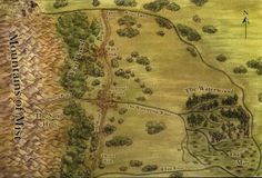 Map of the Two Rivers (Wheel of Time, Robert Jordan)