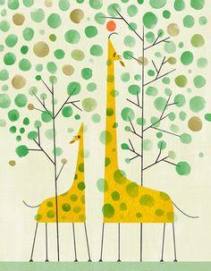 Giraffe by Joyce Hesselberth.  Cutest giraffe illustration for kids EVER