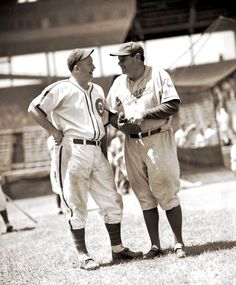 Gabby Hartnett and Babe Ruth who was a Dodgers coach at that point.