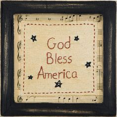 An inspiring touch to your living room or entryway, this framed decor showcases a patriotic needlepoint design.  Product: Wall d...