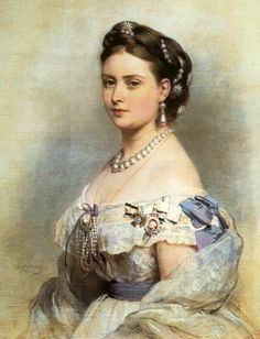 Victoria, Princess Royal.  Victoria was the oldest child of Queen Victoria and Prince Albert.  She is seen here wearing the Badge of the Ord...