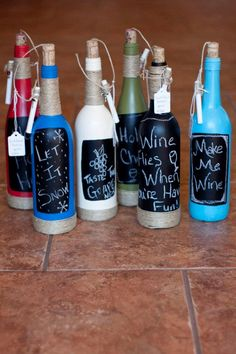 Wine Bottle Chalk Board. $13.99, via Etsy.