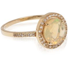 Suzanne Kalan Opal and White Sapphire Round Ring ($1,025) ❤ liked on Polyvore