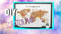 DIY Scratch off MAP l easy&affordable ROOM DECOR l Anouk