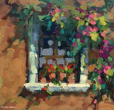 Pots in the Window by Trisha Adams Oil ~ 12 x 12