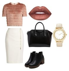 """Untitled #104"" by orosz-melissa on Polyvore featuring Raey, MaxMara, Givenchy, Lime Crime and Chico's"