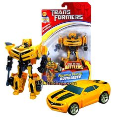 Transformer Year 2007 Fast Action Battlers Series 6 Inch Tall Figure - Autobot Plasma Punch BUMBLEBEE with Plasma Bolt Launcher (Vehicle Mode: Camaro Concept) Transformers Action Figures, Transformers Toys, Camaro Concept, Punch, Transformers Collection, 6 Inches, Super Cars, Vehicles, Play Food