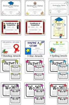 End of the year certificates, awards and diplomas! Download Club members can download @ http://www.christianhomeschoolhub.com/pt/Certificates-Awards--Diplomas/wiki.htm