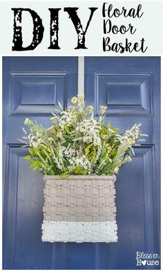 DIY Floral Door Bask