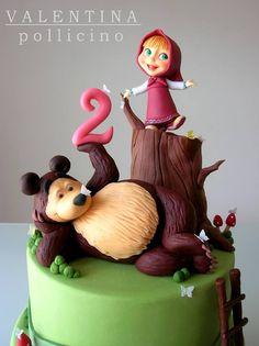 Resultado de imagen para masha y el oso pastel en forma de 1