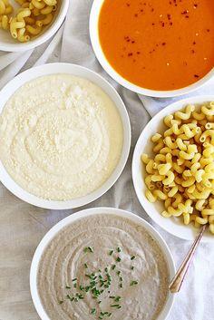 Make Your Own Pasta Bar (with three homemade pasta sauces!) | girlversusdough.com @girlversusdough