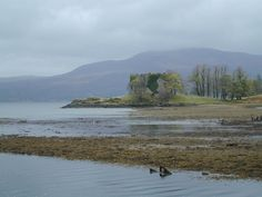 Old Clan MacLachlan Castle. It was destroyed in 1746 after Culloden. This is where my family lived for 500 years.