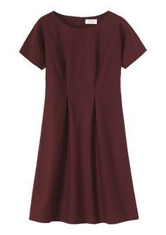 maroon sleeved dress
