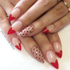 Stiletto Valentine's Day nail art design