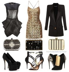 What to Wear For New Year's Eve Balmain Long Square Shoulder Single Button Blazer Giuseppe Zanotti Schutz Ezri