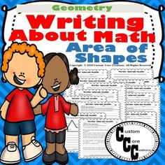 Writing About Math Area of Shapes (Geometry).Let's be honest teachers.many students do not like to write about math. They just want to solve the problem and move on to the next problem. Math Activities, Teacher Resources, School Resources, Learning Resources, Maths Area, 12th Maths, Geometry Tattoo, Geometry Art, Sacred Geometry