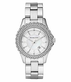 Michael Kors Madison Stone-Topring Watch