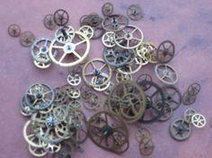 Vintage Tiny Brass Watch Gears by CaityAshBadashery on Etsy, $3.95