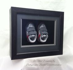 Groovy baby's 1st shoes framed by Babyprints.co.uk